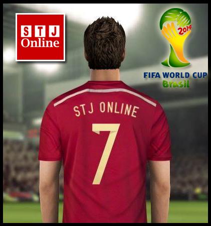 Grafik FB Profile & Timeline STJ Online Sempena Piala Dunia Brasil 2014