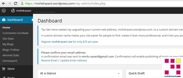 wordpress mohdrazani step10