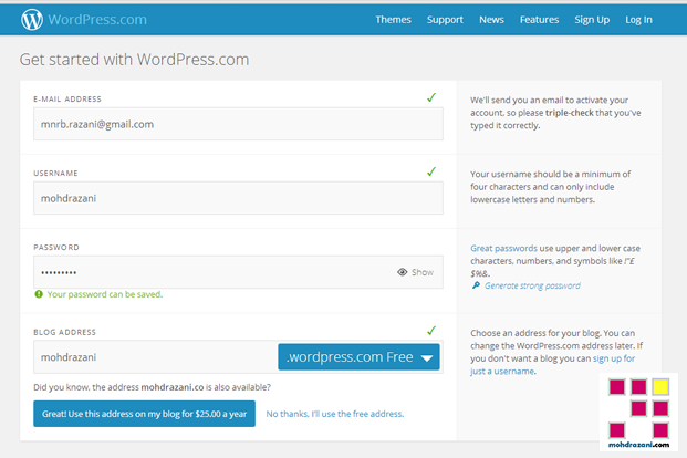 wordpress mohdrazani step2