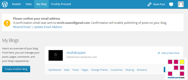 wordpress mohdrazani step8